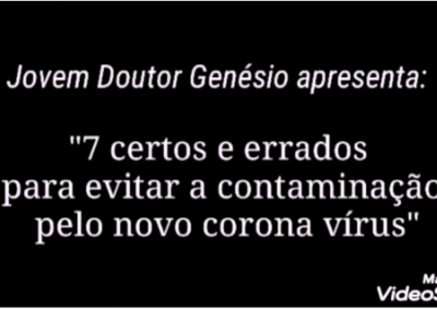 Vídeo de Prevenção: jovens doutores da Turma 1 da UME Irmão José Genésio