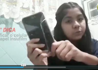 Vídeo de Prevenção: Maria Eduarda, da UME Cidade de Santos